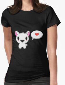Loving comment  Womens Fitted T-Shirt