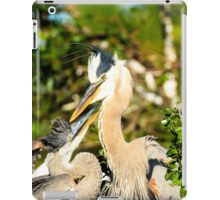 Great Blue Herons Adult with Young iPad Case/Skin