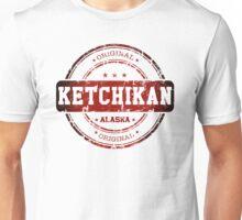 Ketchikan Alaska Stamp Unisex T-Shirt