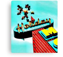 Holiday Motel Lodge Sign Canvas Print