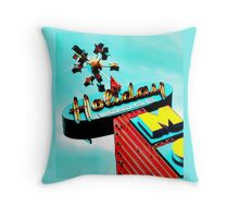 Holiday Motel Lodge Sign Throw Pillow