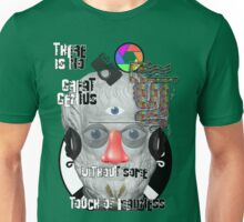 """There is no great genius without some touch of madness."" - Aristotle Unisex T-Shirt"