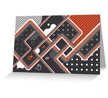 Graphic Linework Illustration - Orange Greeting Card