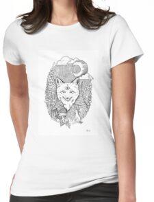 Three-Eyed Woodland Fox Womens Fitted T-Shirt