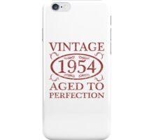 Vintage 1954 Birth Year iPhone Case/Skin