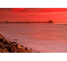 Oceanside Pier Sunset Photographic Print