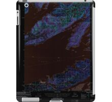 USGS TOPO Map Alaska AK Cordova C-6 355195 2000 63360 Inverted iPad Case/Skin