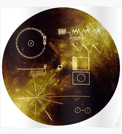 The Voyager Golden Record! Poster