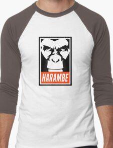 Harambe (OBEY Meme) Gorilla Shirt, Phone Case, Stickers Men's Baseball ¾ T-Shirt