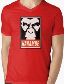 Harambe (OBEY Meme) Gorilla Shirt, Phone Case, Stickers Mens V-Neck T-Shirt