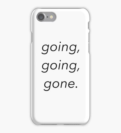 going, going, gone. - disposable (lil tokyo) gnash iPhone Case/Skin