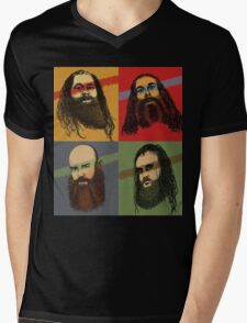 Portrait Of An American Family Mens V-Neck T-Shirt