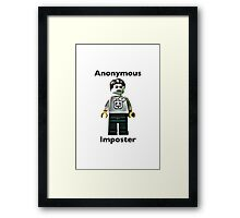 Anonymous Imposter Framed Print
