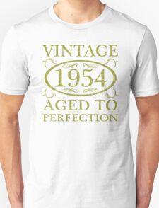 Vintage 1954 Birth Year Unisex T-Shirt