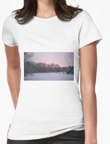Snowy Scene Womens Fitted T-Shirt
