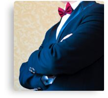 Close-up of a man in a tuxedo Canvas Print