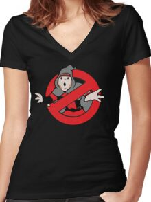 "Dick Lane's ""Dick Busters"" Women's Fitted V-Neck T-Shirt"
