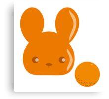 orange fruit bunny Canvas Print