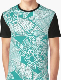 Sealife Aqua All-over Print Graphic T-Shirt