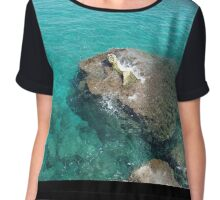 Out of the ocean Chiffon Top