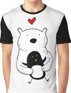 A polar bear and a penguin are real friends Graphic T-Shirt