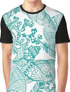 Sealife White Print Graphic T-Shirt