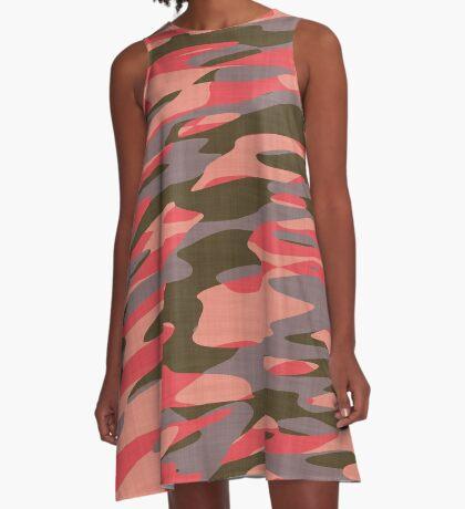peach camo abstract A-Line Dress