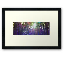 Pixel Trees Framed Print
