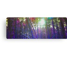 Pixel Trees Canvas Print