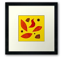 Yellow fantasy Framed Print
