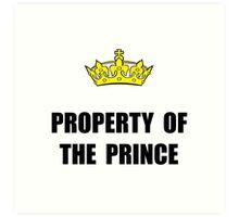 Property Of Prince Art Print