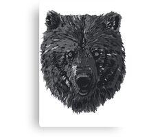 Bear BW Canvas Print