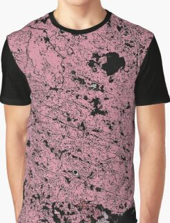Grunge Pink and Black abstraction 2 Graphic T-Shirt