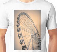 Paris Observation Wheel Sepia Unisex T-Shirt