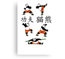 Kung-Fu Panda White&Random Canvas Print