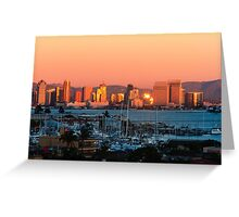 San Diego Skyline Sunset Greeting Card