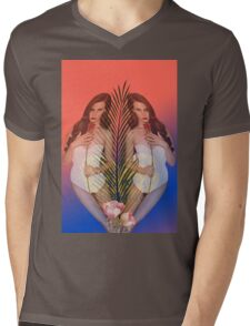 Lana Tropical Mens V-Neck T-Shirt