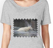 Polar Bear Splashing in the Water Women's Relaxed Fit T-Shirt