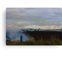 The Great Ocean Road - burning fields Canvas Print