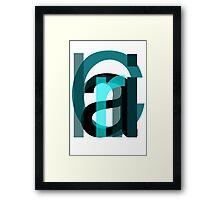 Letters. Framed Print