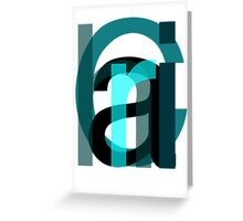 Letters. Greeting Card