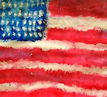Rugged U.S. Flag Painting by madisoncenter