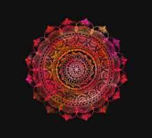 Red and Black Mandala Unisex T-Shirt