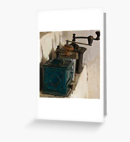 Old coffee grinders Greeting Card