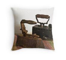 Old irons Throw Pillow