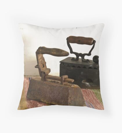 Old irons Throw Pillow