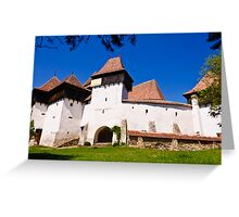 Viscri Fortified Church, Transylvania, UNESCO heritage Greeting Card