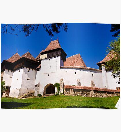 Viscri Fortified Church, Transylvania, UNESCO heritage Poster
