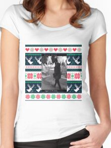 Death  grips Christmas sweater  Women's Fitted Scoop T-Shirt