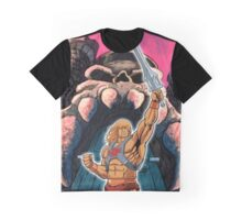 Warrior sword and castle Graphic T-Shirt